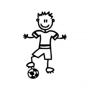 Bambino calciatore - Adesivi Famiglia