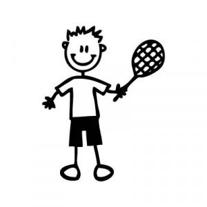 Bambino tennista - Adesivi Famiglia