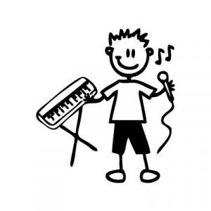 Bambino musicista - Adesivi Famiglia