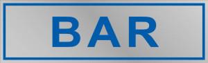 """Etichetta adesiva """"Bar"""""""