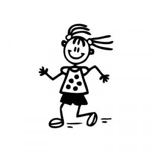 Bambina che corre - Adesivi Famiglia
