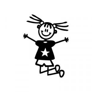 Bambina che salta - Adesivi Famiglia