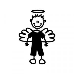 Bambino angioletto - Adesivi Famiglia