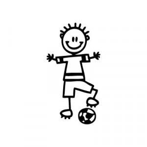 Bambino col pallone - Adesivi Famiglia