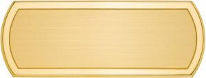 CLS - Targa da porta sagomata ottone satinato bordo lucido