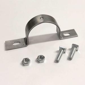 Collare metallico per fissaggio cartelli scatolati