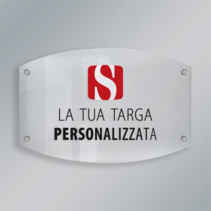 Targa plexiglass contemporanea