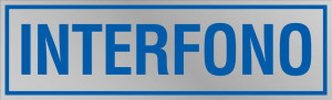 """Etichetta adesiva """"Interfono"""""""