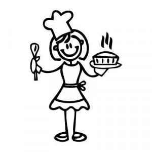 Mamma cuoca - Adesivi Famiglia