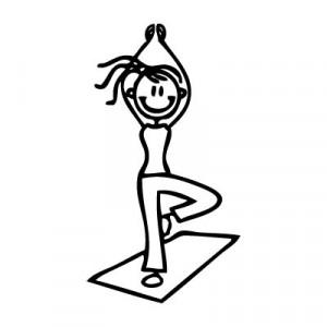Mamma yoga - Adesivi Famiglia