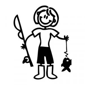 Mamma pescatrice - Adesivi Famiglia