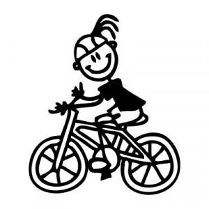 Mamma in bicicletta - Adesivi Famiglia