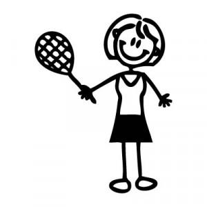 Mamma tennista - Adesivi Famiglia