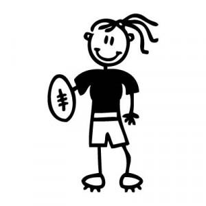 Mamma rugby - Adesivi Famiglia