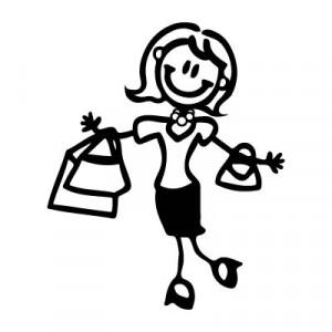 Mamma con la spesa - Adesivi Famiglia