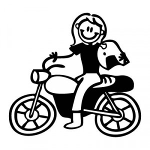 Mamma in moto - Adesivi Famiglia