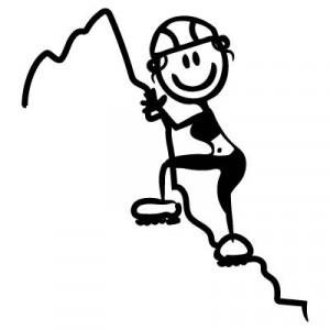 Mamma scalatrice - Adesivi Famiglia