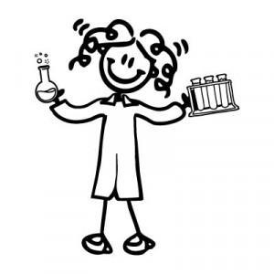 Mamma scienziata - Adesivi Famiglia