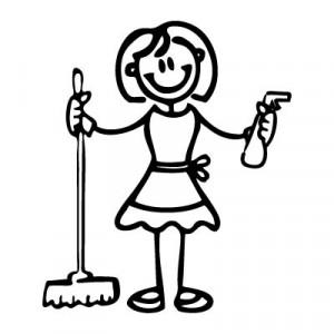 Mamma collaboratrice domestica - Adesivi Famiglia