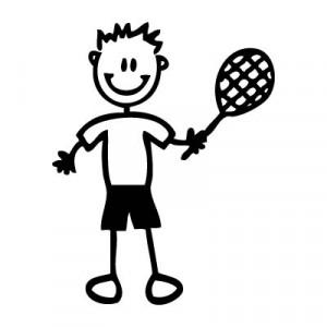 Papà tennista - Adesivi Famiglia