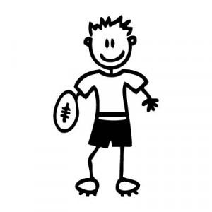Papà rugby - Adesivi Famiglia