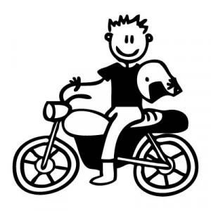 Papà in moto - Adesivi Famiglia