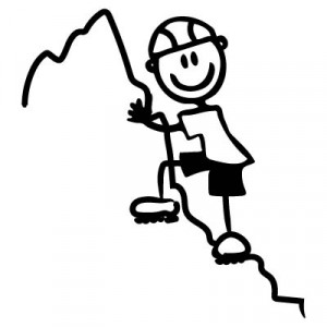 Papà scalatore - Adesivi Famiglia
