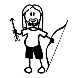 Papà arciere - Adesivi Famiglia