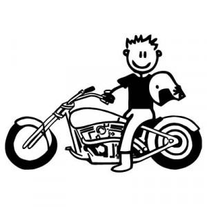 Papà con Harley-Davidson - Adesivi Famiglia