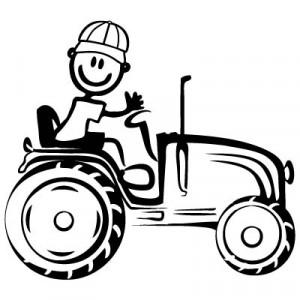 Papà agricoltore - Adesivi Famiglia