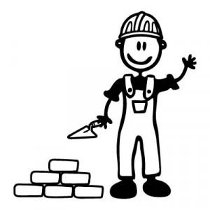 Papà muratore - Adesivi Famiglia
