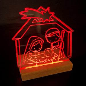Presepe luminoso in plexiglas