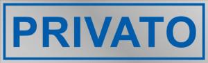 """Etichetta adesiva """"Privato"""""""