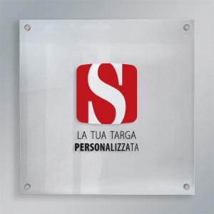 Targa plexiglass quadrata