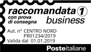 Timbro Posta Raccomandata 1 Business (con prova di consegna)
