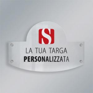 Targa Plexiglass Sagomata