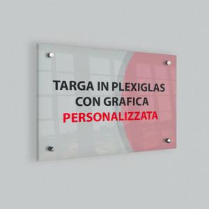 Targa personalizzata in plexiglas