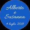 """Adesivi """"Alberto e Susanna"""""""