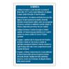 Cartello con obblighi e raccomandazioni