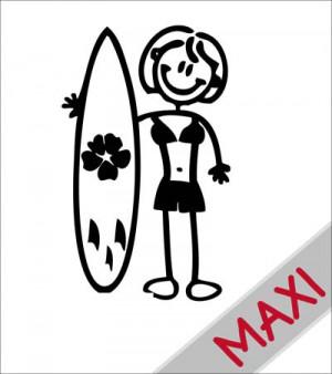 Mamma con surf