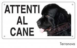 """Cartello """"Attenti al cane"""" - Terranova"""