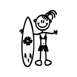Bambina con surf