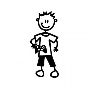 Bambino con videogioco