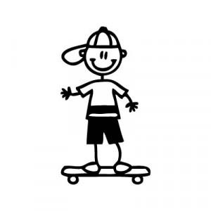 Bambino su skateboard