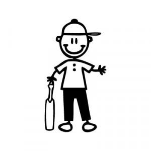 Bambino giocatore di cricket