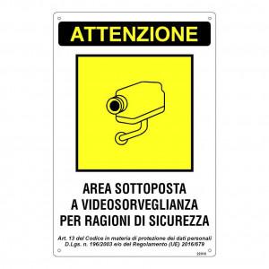 """Adesivo """"Area sottoposta a Videosorveglianza per Ragioni di Sicurezza"""""""