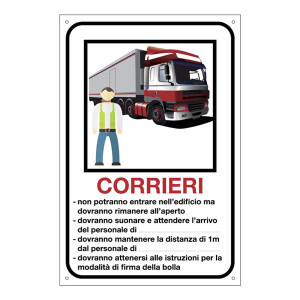 Cartello per corrieri personalizzabile