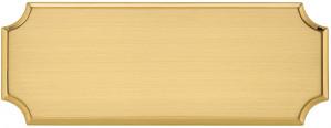 DT - Targa da porta sagomata ottone satinato taglio lucido