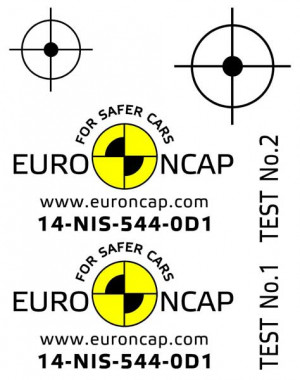 "Adesivi ""Crash Test Euro NCAP"" per auto"