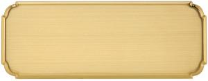 FT - Targa da porta sagomata ottone satinato taglio lucido